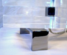 Laser Cut Acyrlic Table Lamp with Chrome Accents