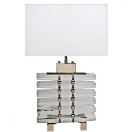 Modern Art Deco Acrylic Slab Table Lamp