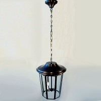 Brass Contemporary Lantern Chandelier