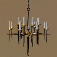 Bronze Sixteen Arm Modern Chandelier
