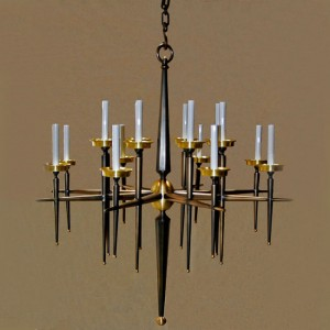Art Deco Bronze Chandelier Lighting