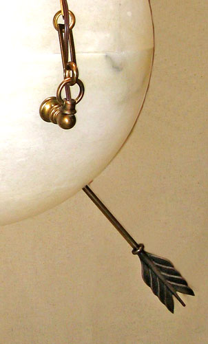 Arrow Pierced Alabaster Sphere Chandelier Light Add