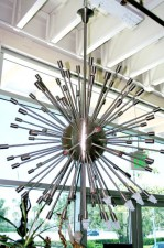 Brass Sputnik Chandelier in Gallery