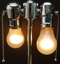 Hi Polish Nickel Double Chain-Pull Light Cluster