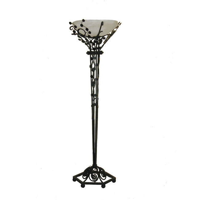 iron floor lamps on edgar brandt art deco wrought iron floor lamp. Black Bedroom Furniture Sets. Home Design Ideas
