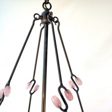 Andre Dubreuil Chandelier in Pink