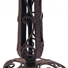 Antique Oraganic Wrought Iron Edgar Brandt Floor Lamp Stem