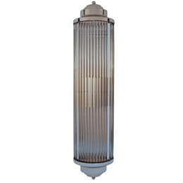 Wide Art Deco Glass Rod Wall Sconce