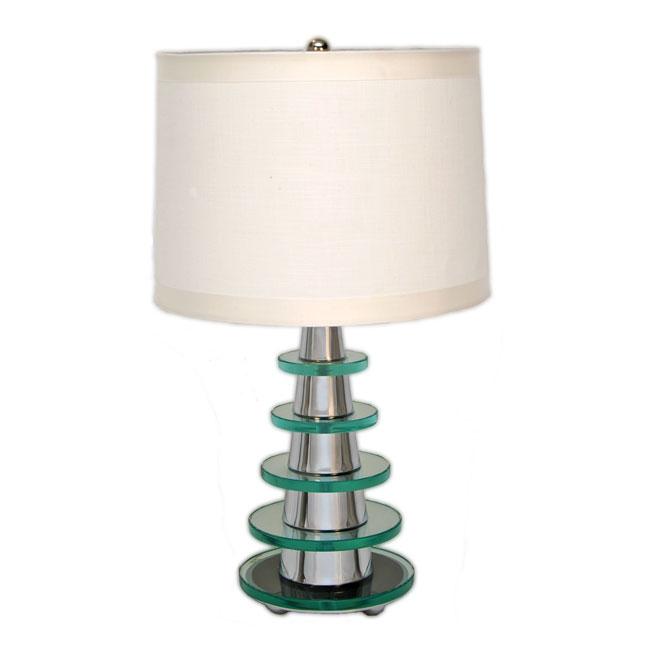 art deco modernist pyramid glass table lamp add custom made high end lighting. Black Bedroom Furniture Sets. Home Design Ideas