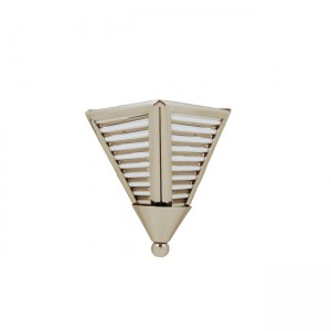 Art Deco Modern Sconce in with Triangular Glass Rod Shades