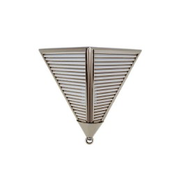 Art Deco Triangular Glass Rod Sconce Light