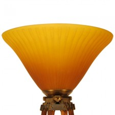 Engineering Tripod Lamp with Daum Nancy Shade