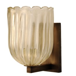 Modern Gold Dust Italian Murano Glass Sconce