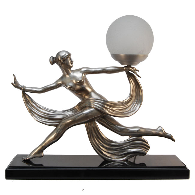Table lamps add custom made high end lighting part 4 art deco aouline bronze lady table lamp aloadofball Images