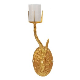 Felix Agostini 24kt Dore Gold Finish Organic Single Tree Branch Wall Sconce