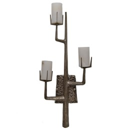 Felix Agostini Antique Silver Organic Tree Branch Wall Sconce
