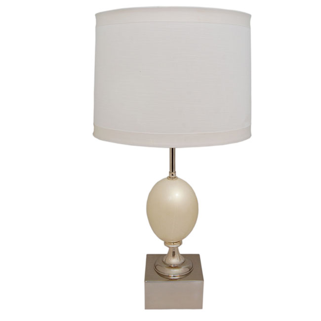 Ostrich Egg Table Lamp