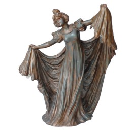Antique Art Nouveau Lady Figurine Table Lamp