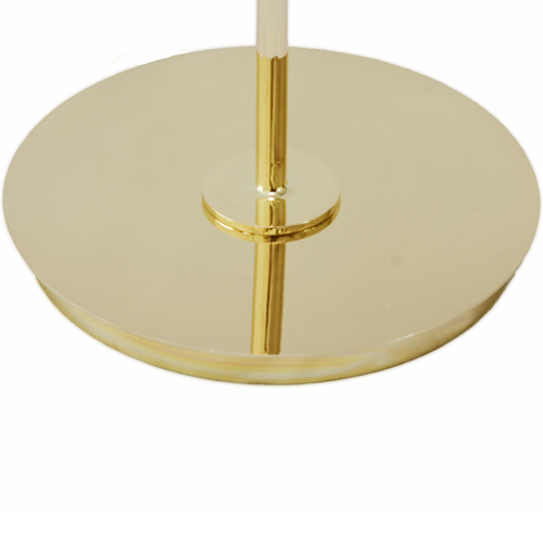 Modern brass torchiere floor lamp with double murano 24kt gold modern brass floor lamp base mozeypictures Images