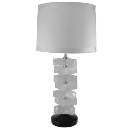 Rock Crystal Triangle Block Modern Table Lamp