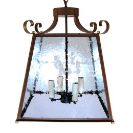 French Parisian Style Hanging Pagoda Lantern Light