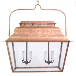 Early American Doghouse Lantern Light