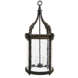 Cast Bronze Achantus Leaf Lantern Light