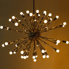 Lit Retro Chandelier