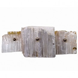 Modern Natural Satin Spar Selenite Stone Wall Sconce