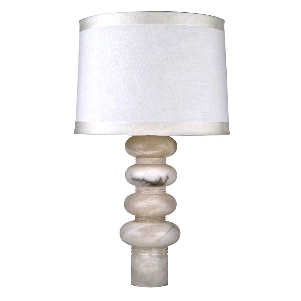Art Deco Contemporary Alabaster Table Lamp Add Custom