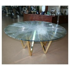 Modern All Brass V Table