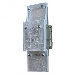 Modern Utah Ice Selenite Stone Vertical Mount Wall Sconce