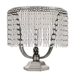 Bead-Draped Art Deco Ruhlmann Boudoir Lamp