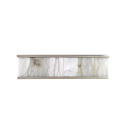 Modern Rectangular Sconce with Alabaster Shades
