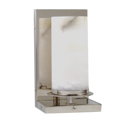 Modern Candle Shaped Sconce with Alabaster Shade Specifications