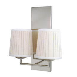 Modern Tubular Two Arm Candelabra Sconce