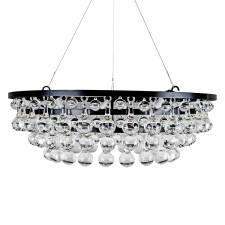 Modern Glass Ball and Drop Chandelier