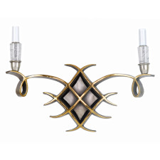 Jules Leleu Scroll Bronze Sconce with Rock Crystal