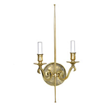 Modern Brass Sconce with Rock Crystal Backplate