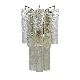Art Deco Venini Draped Glass Wall Sconce