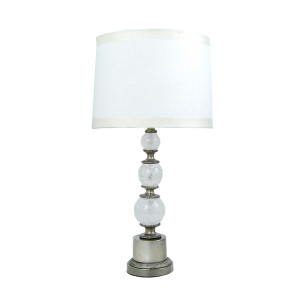 Rock-Crystal-Ball-with-Antique-Silver-Bronze-Table-Lamp-750