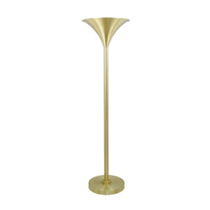Art Deco Floor Lamp with Trumpet Shade