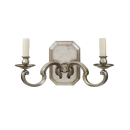 Maxinquale Cast Bronze Silver Contemporary Sconce