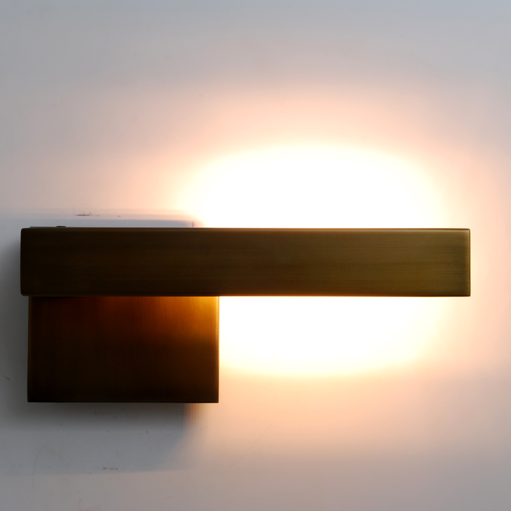 Modern Right Angle Headboard Wall Sconce With Led Light