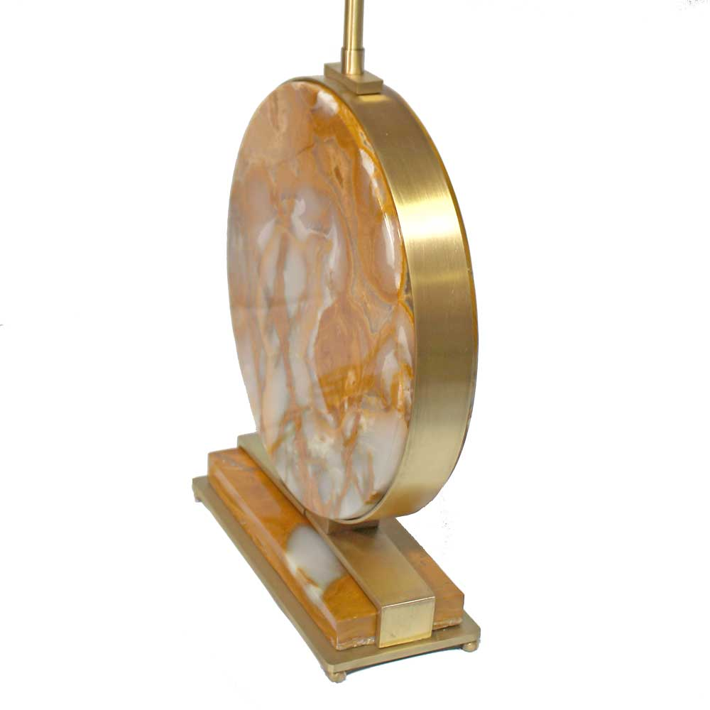 Modern Brass Natural Onyx Stone Table Lamps Add Custom